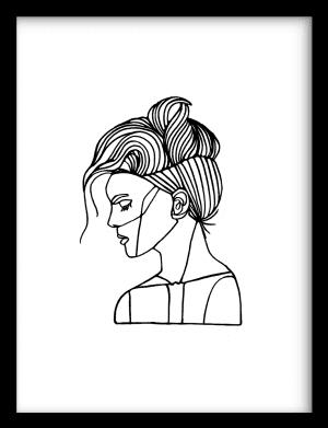 Silent Smile wandkleed Urban Cotton, design  - Enhanced Matte Fine Art Paper