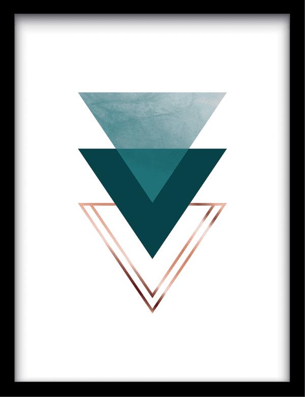 Triangle crush wandkleed Urban Cotton, design  - Enhanced Matte Fine Art Paper