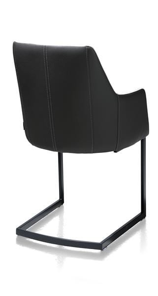 Giuliette armstoel zwart (ROB) - Kibo/Tatra combi Lichtgrijs  XOOON Lowik Wonen & Slapen