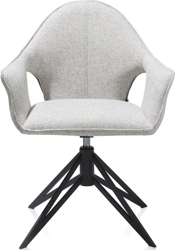 Lola armstoel wit, excentriek modern design uit de Xooon eetkamerstoelen collectie - eetstoel