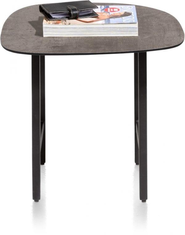 Fresno bijzettafel 45 x 45 cm. - HPL betonlook XOOON Lowik Wonen & Slapen