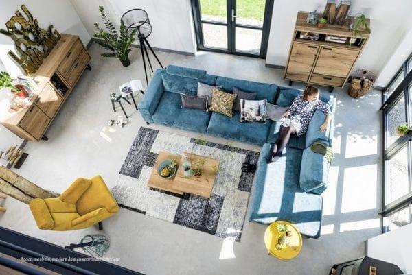 Hoekbank Rubi uit de Xooon design collectie, betaalbare design meubels