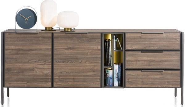 Domani dressoir 210 cm - 2-deuren + 3-laden + 4-niches (+ LED) XOOON Lowik Wonen & Slapen