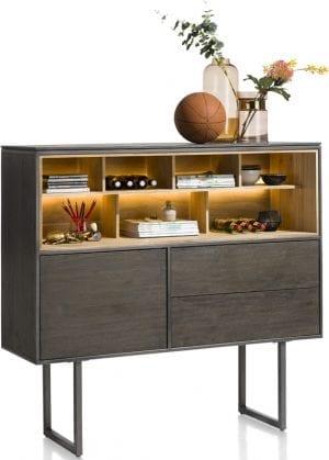 Moniz dressette van Xooon, uitgevoerd in eiken fineer kleur carbon - modern betaalbaar design!