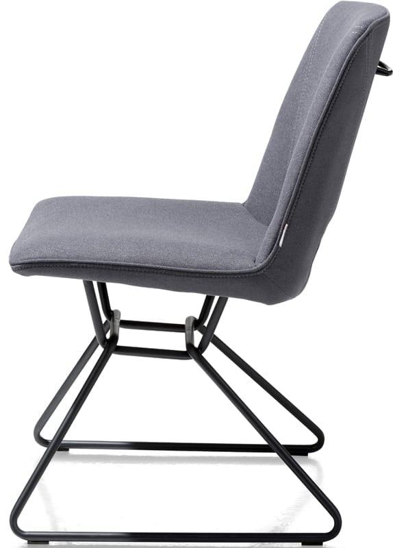 Matiz stoel uit de Xooon design collectie - eetkamerstoel antraciet