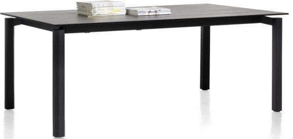 Imperial uitschuiftafel 200 x 100 cm (+ 80 cm) tafelblad in veiligheidsglas