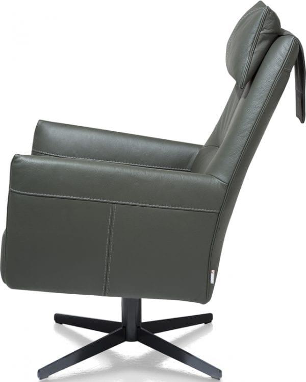 Matera draaifauteuil, schitterende draaifauteuil in leder Catania donkergroen - Xooon fauteuils