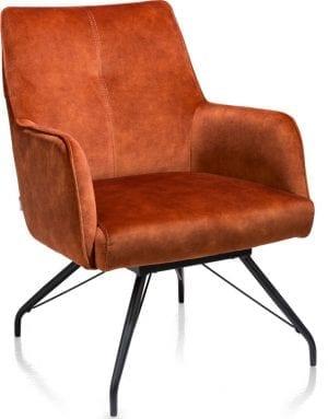 Oona fauteuil - stof Karese Koper XOOON Lowik Wonen & Slapen