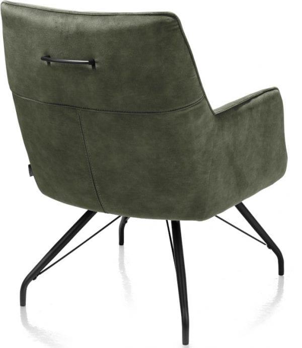 Oona fauteuil - stof Karese Olijf XOOON Lowik Wonen & Slapen