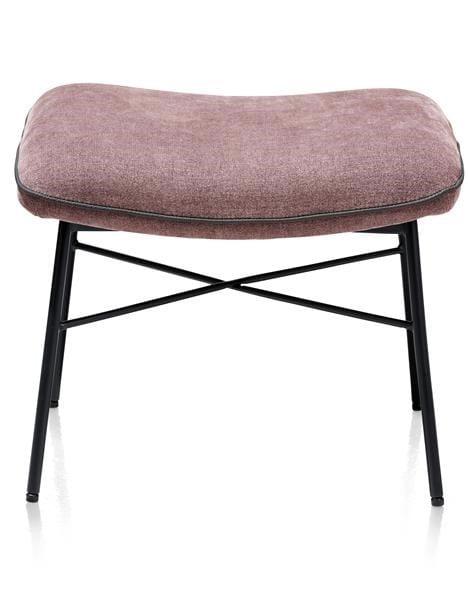 Quint poef / hocker bij lounge - stof Enova Burgundy Red multiplex met polyether