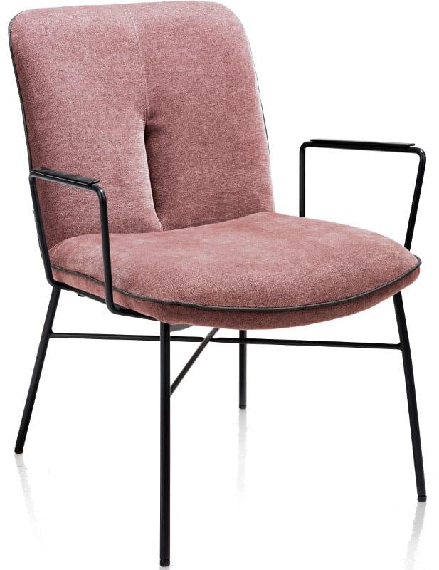 Quint lounge met arm - burgundy red