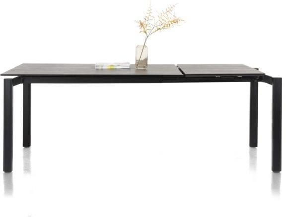 Imperial uitschuiftafel 140 x 100 cm (+ 60 cm) tafelblad in veiligheidsglas