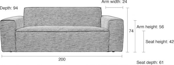 Bank Bor 2,5-Seater Latte modern design uit de Zuiver meubel collectie - 3200118