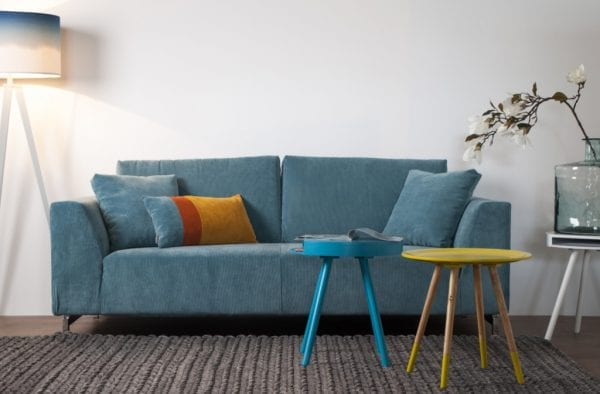 Bank Dragon 3-Seater Rib Blue modern design uit de Zuiver meubel collectie - 3200001