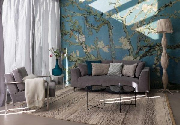 Bank Dragon 3-Seater Rib Cool Grey modern design uit de Zuiver meubel collectie - 3200042