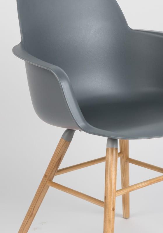 Armstoel Albert Kuip Dark Grey modern design uit de Zuiver meubel collectie - 1200132