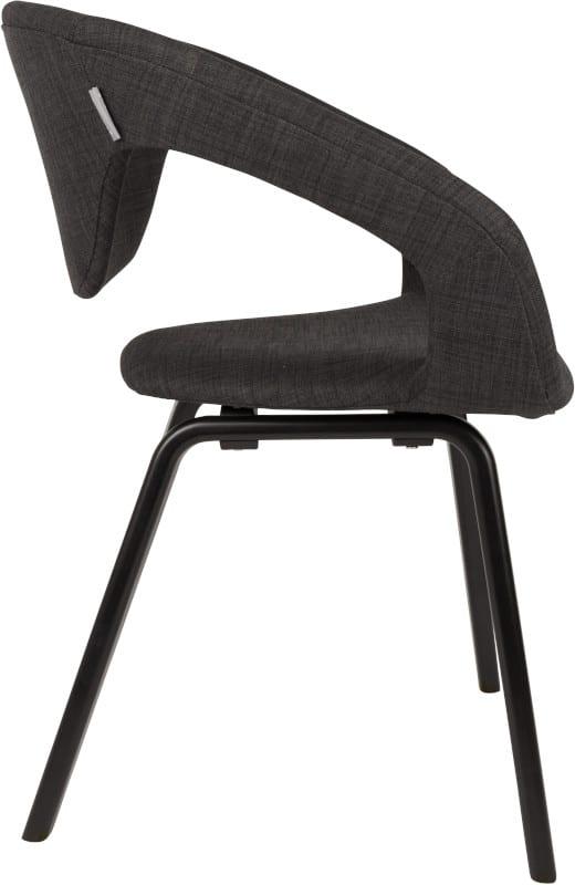Armstoel Flexback Black/Dark Grey modern design uit de Zuiver meubel collectie - 1200098