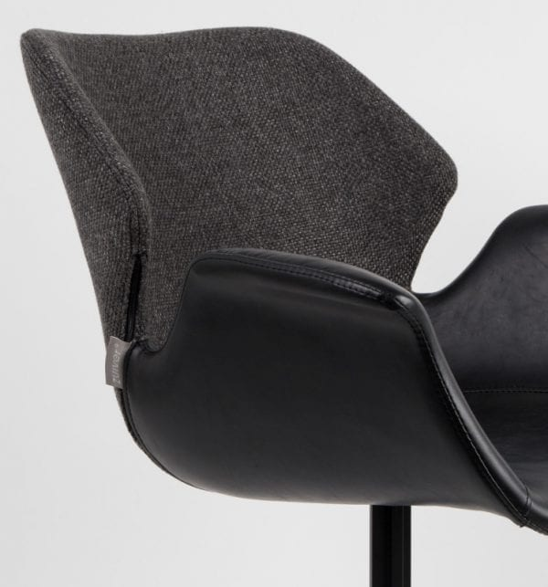 Armstoel Nikki All Black modern design uit de Zuiver meubel collectie - 1200139