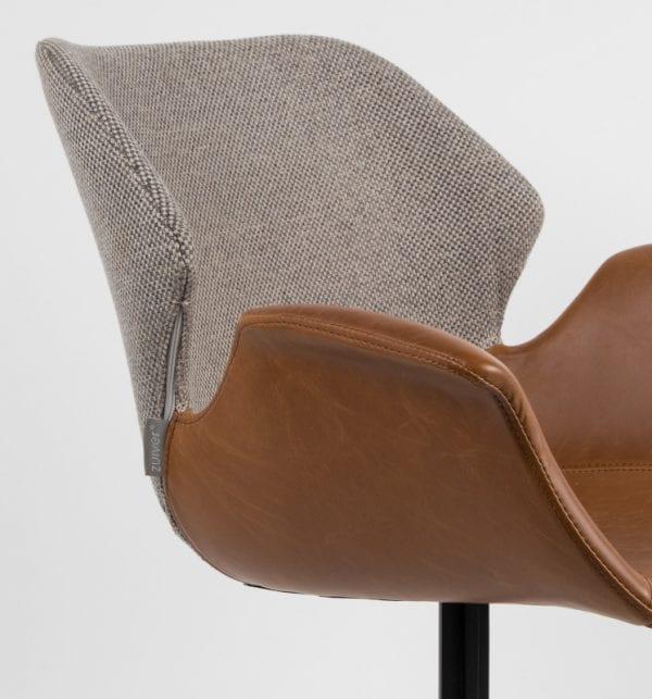 Armstoel Nikki All Brown modern design uit de Zuiver meubel collectie - 1200140