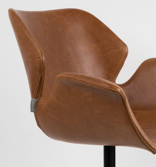 Armstoel Nikki Fab Black modern design uit de Zuiver meubel collectie - 1200138