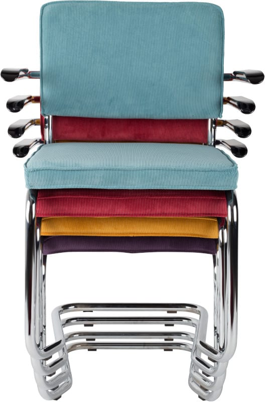 Armstoel Ridge Kink Rib Cool Grey 32A modern design uit de Zuiver meubel collectie - 1200063