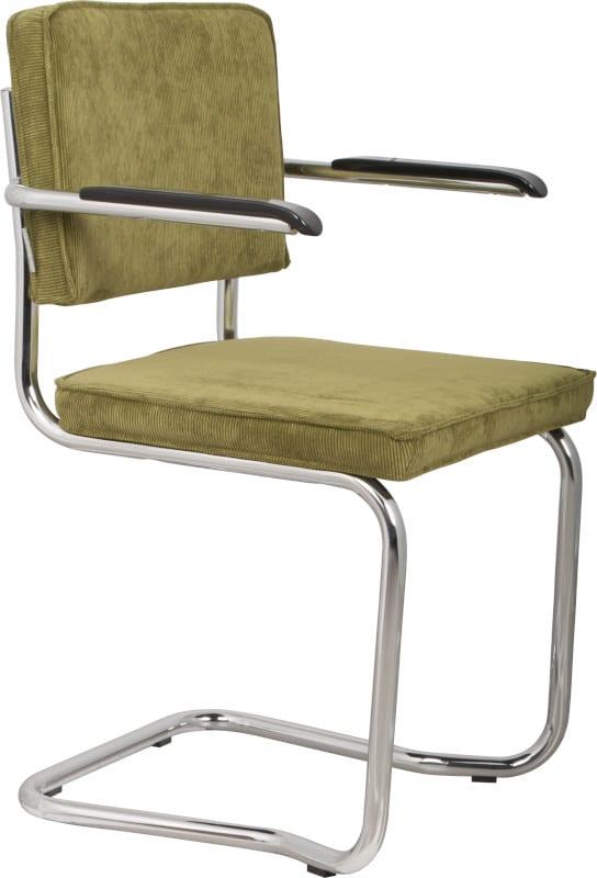 Armstoel Ridge Kink Rib Green 25A modern design uit de Zuiver meubel collectie - 1200052