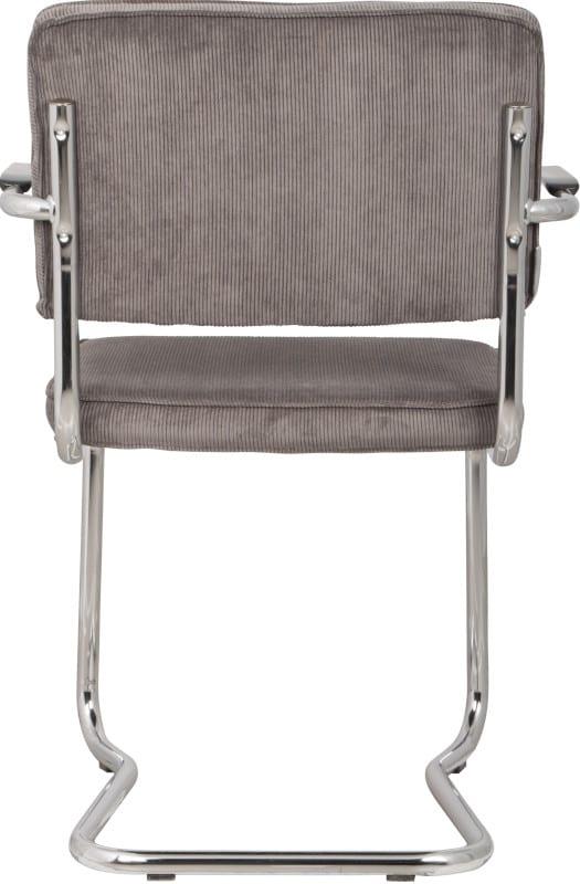 Armstoel Ridge Kink Rib Grey 6A modern design uit de Zuiver meubel collectie - 1200048