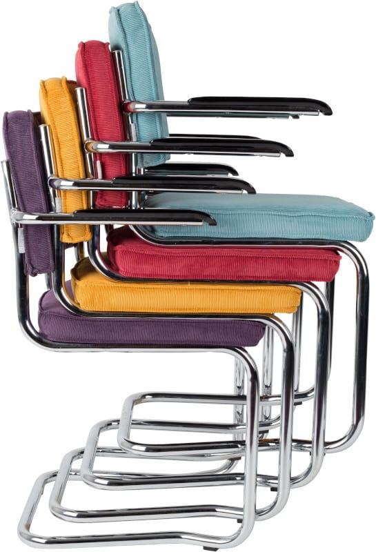 Armstoel Ridge Kink Rib Orange 19A modern design uit de Zuiver meubel collectie - 1200046