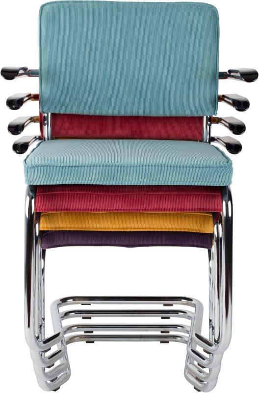 Armstoel Ridge Kink Rib Yellow 24A modern design uit de Zuiver meubel collectie - 1200053
