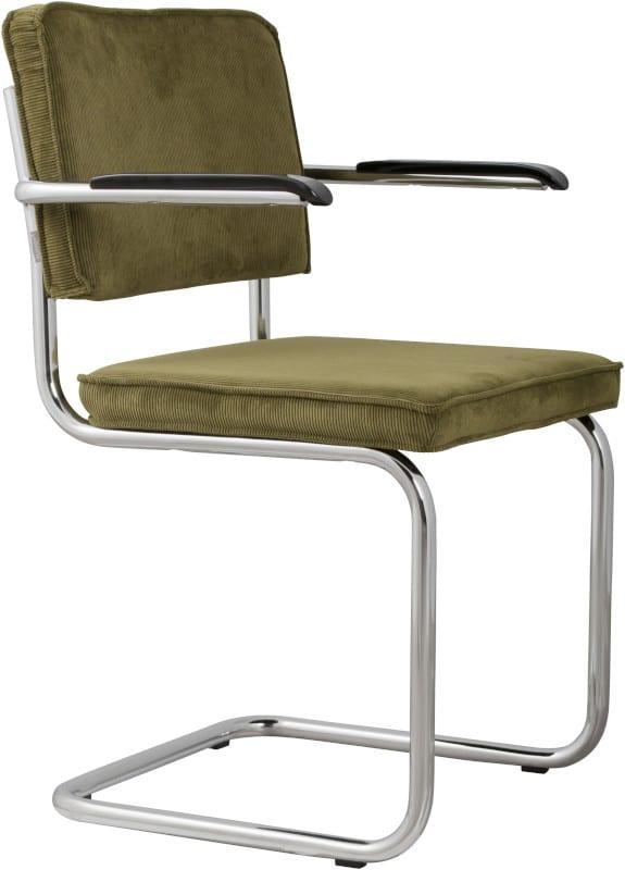 Armstoel Ridge Rib Green 25A modern design uit de Zuiver meubel collectie - 1006058