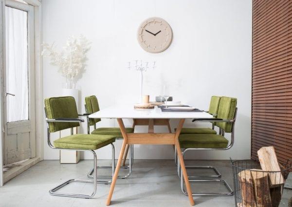 Armstoel Ridge Rib Orange 19A modern design uit de Zuiver meubel collectie - 1006052