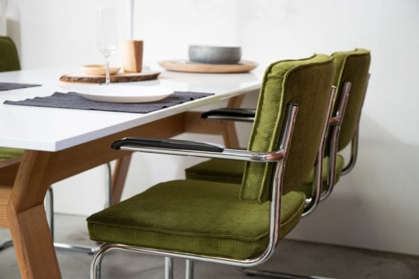 Armstoel Ridge Rib Yellow 24A modern design uit de Zuiver meubel collectie - 1006059
