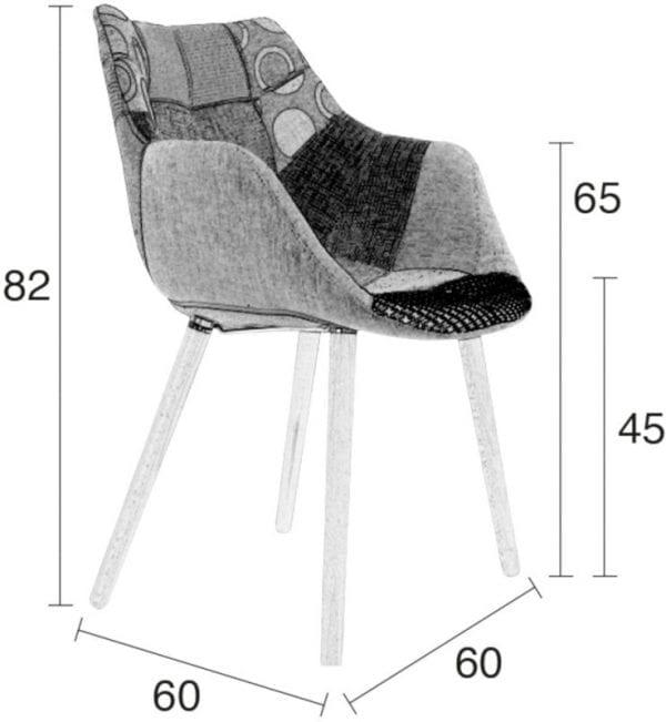 Armstoel Twelve Patchwork modern design uit de Zuiver meubel collectie - 1100266