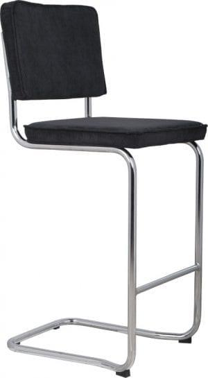 Barkruk Ridge Kink Rib Black 7A modern design uit de Zuiver meubel collectie - 1500002