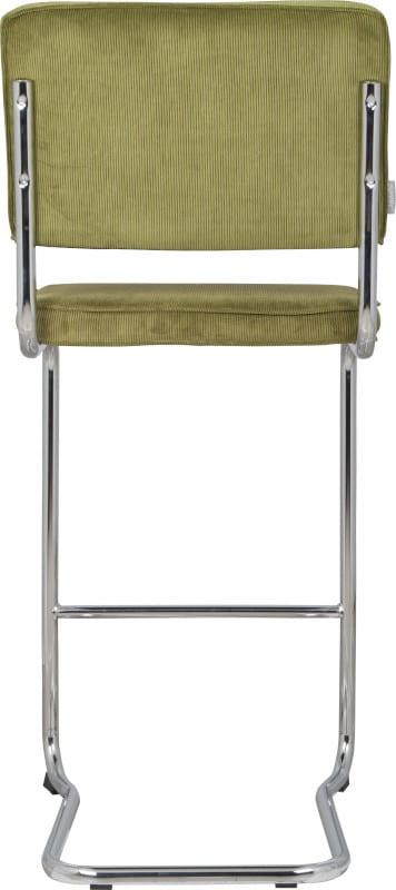 Barkruk Ridge Kink Rib Green 25A modern design uit de Zuiver meubel collectie - 1500010