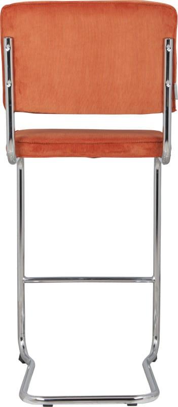 Barkruk Ridge Kink Rib Orange 19A modern design uit de Zuiver meubel collectie - 1500001