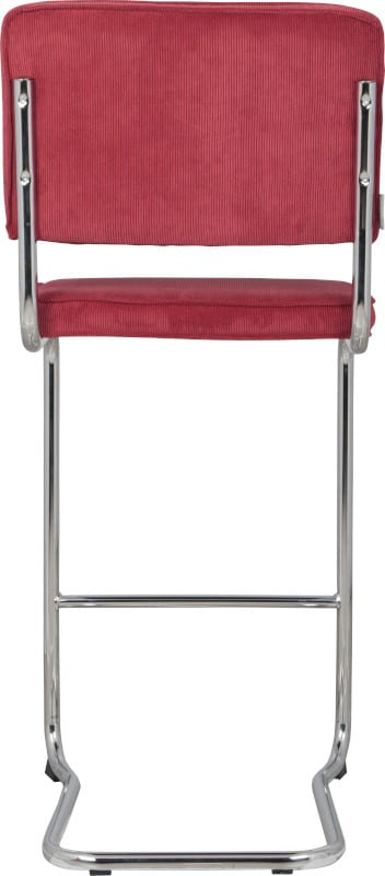 Barkruk Ridge Kink Rib Red 21A modern design uit de Zuiver meubel collectie - 1500003