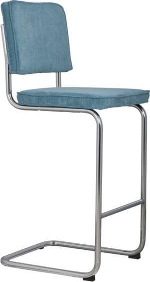 Barkruk Ridge Rib Blue 12A modern design uit de Zuiver meubel collectie - 1500206