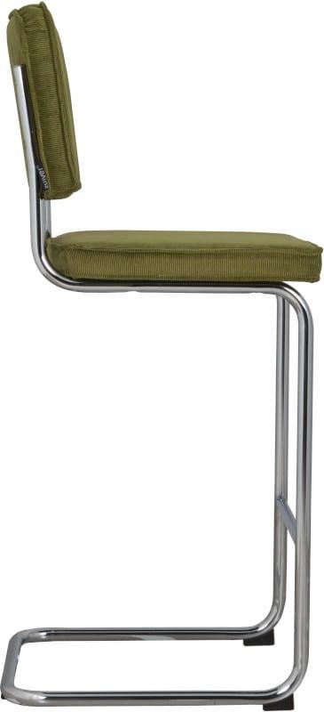 Barkruk Ridge Rib Green 25A modern design uit de Zuiver meubel collectie - 1500210