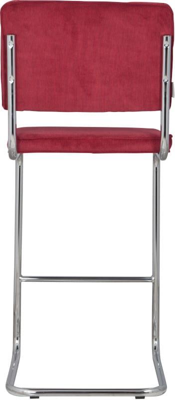 Barkruk Ridge Rib Red 21A modern design uit de Zuiver meubel collectie - 1500203