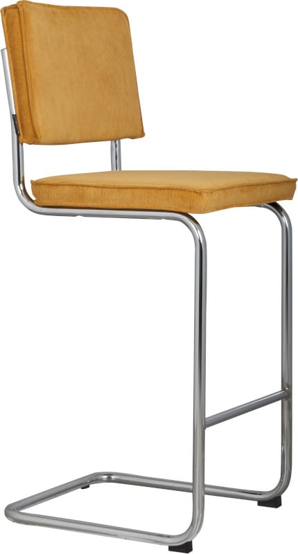 Barkruk Ridge Rib Yellow 24A modern design uit de Zuiver meubel collectie - 1500208