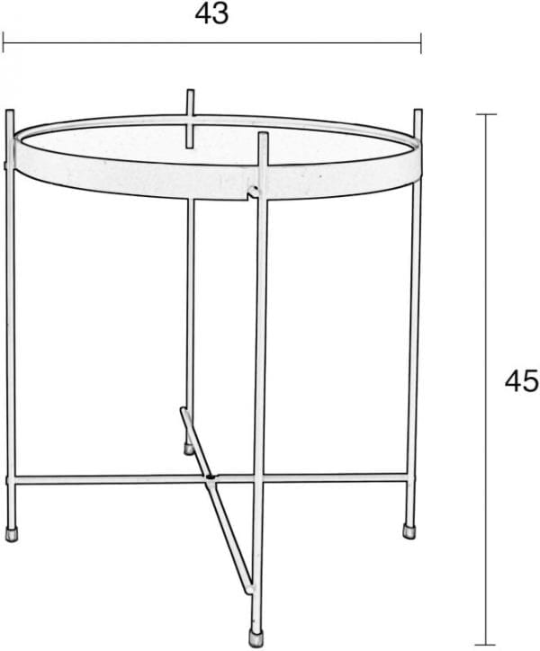 Bijzettafel Cupid Copper modern design uit de Zuiver meubel collectie - 2300038