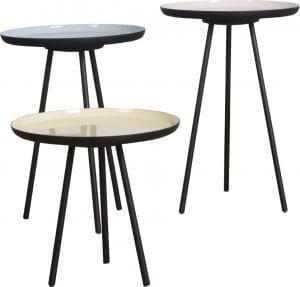 Bijzettafel Enamel Set Of 3 modern design uit de Zuiver meubel collectie - 2300025