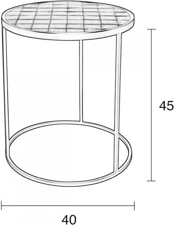 Bijzettafel Glazed Black modern design uit de Zuiver meubel collectie - 2300127