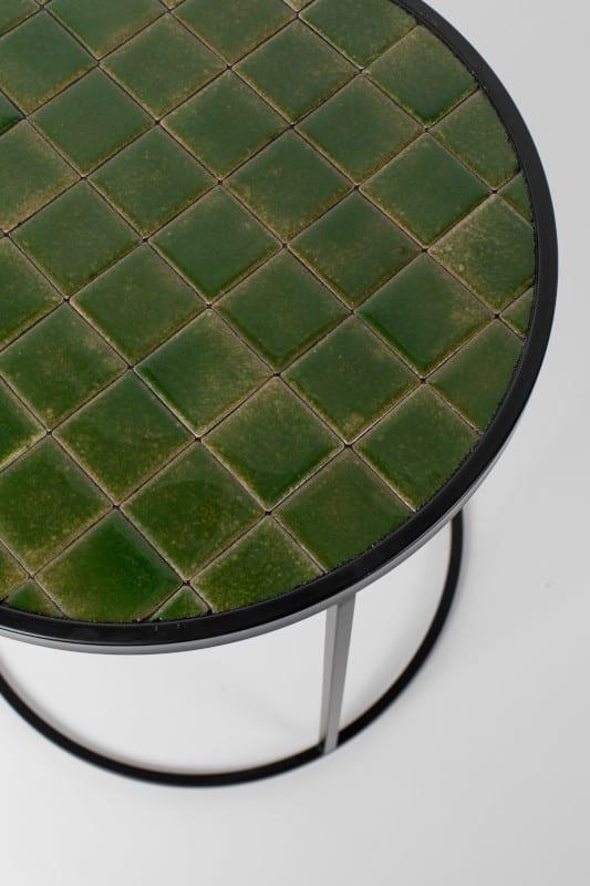 Bijzettafel Glazed Green modern design uit de Zuiver meubel collectie - 2300128