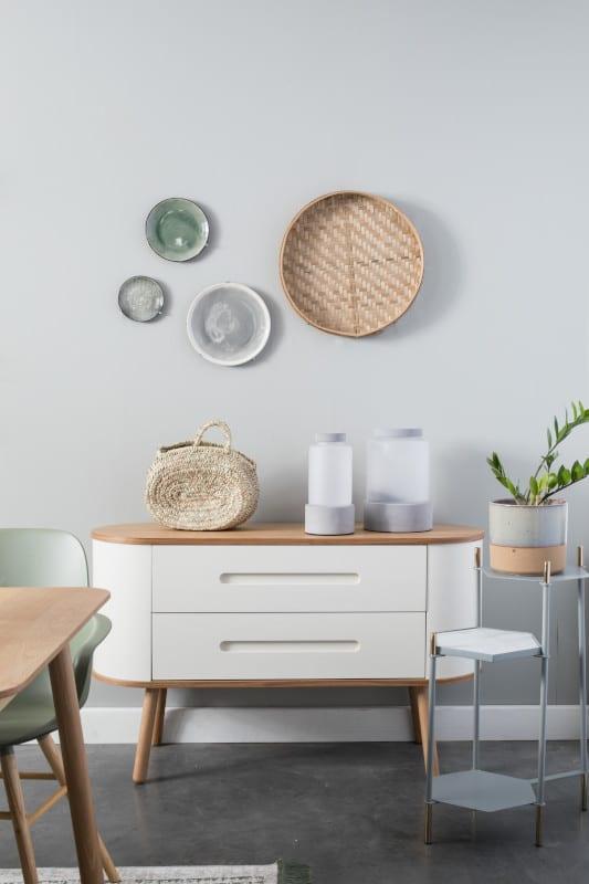 Bijzettafel Honeycomb Grey modern design uit de Zuiver meubel collectie - 2300146