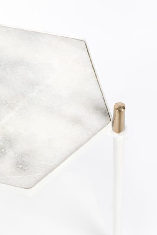 Bijzettafel Honeycomb White modern design uit de Zuiver meubel collectie - 2300147