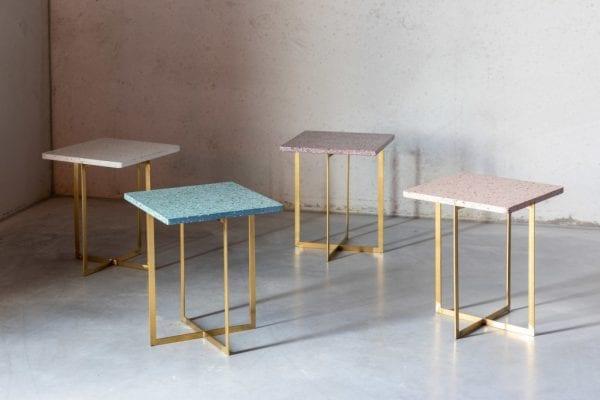 Bijzettafel Luigi Round Green modern design uit de Zuiver meubel collectie - 2300183