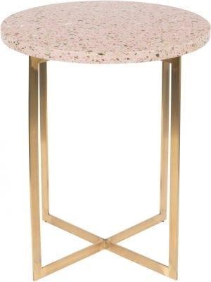 Bijzettafel Luigi Round Pink modern design uit de Zuiver meubel collectie - 2300180