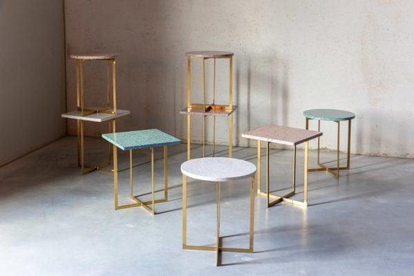 Bijzettafel Luigi Square Dark Red modern design uit de Zuiver meubel collectie - 2300186